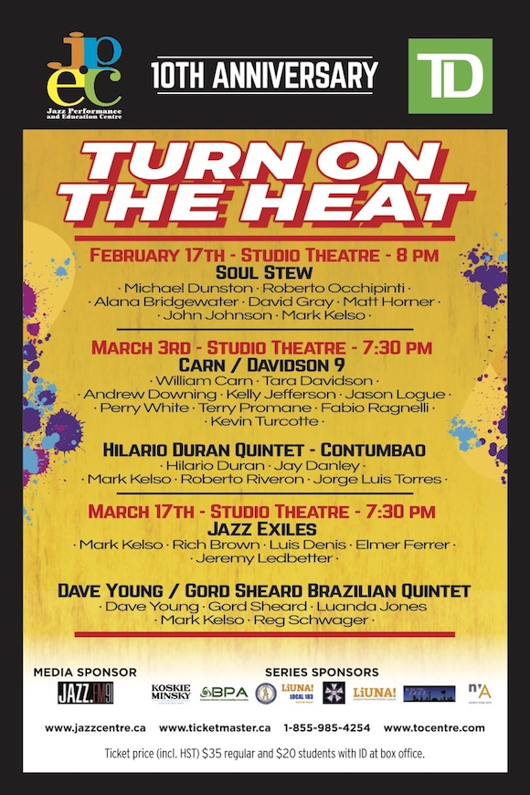 Turn On The Heat - JPEC Presents: Carn/Davidson 9 & Hilario Durán Quintet/Contumbao
